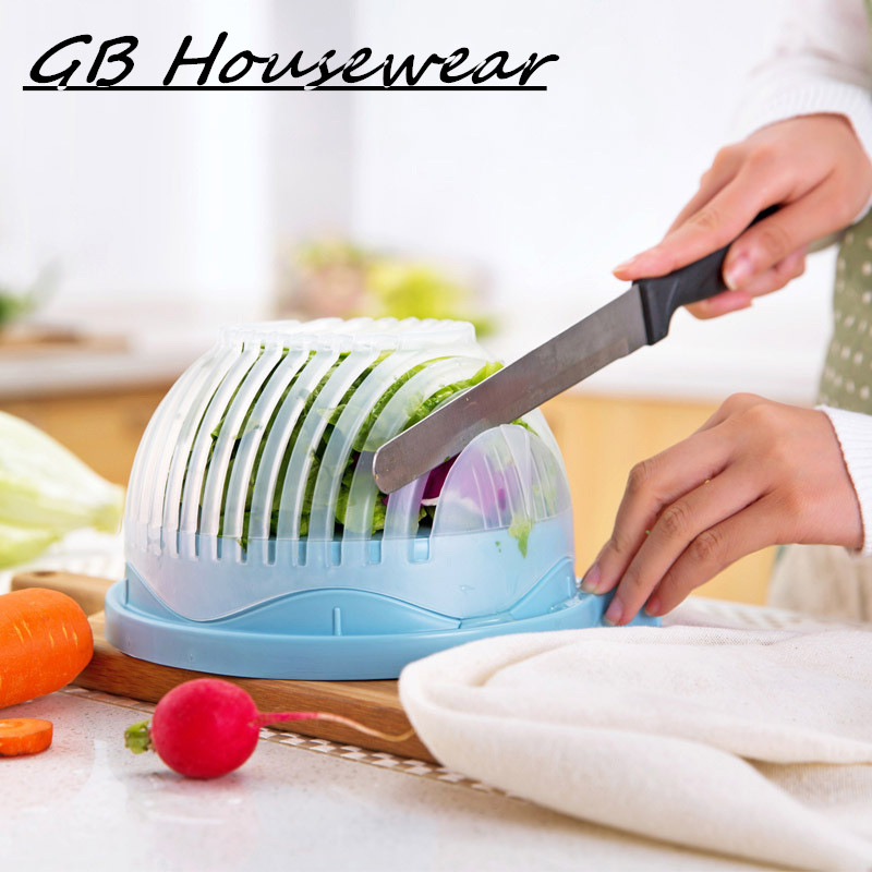 NEW 60 seconds font b salad b font cutter bowl cut fruit vegetables cutters bowl Creative