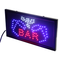 CHENXI Animated Motion Running 10X19 inch Bar Board LED Sign for Bar Beer Business Shop Open LED Neons Signs.