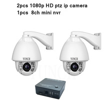 Security 8CH 1080P HD IP Network Camera NVR Kit high speed dome auto tracking ptz ip camera with mini nvr 8ch p2p