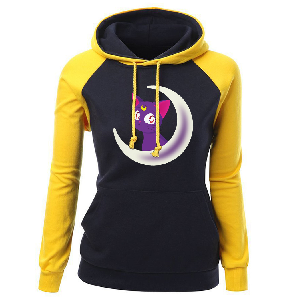 Oberteile Und T-shirts Pflichtbewusst Frauen Sportswear 2018 Herbst Winter Fleece Marke Kleidung Cartoon Sailor Moon Kawaii Raglan Hoodies Frauen Sweatshirts Harajuku T-shirts