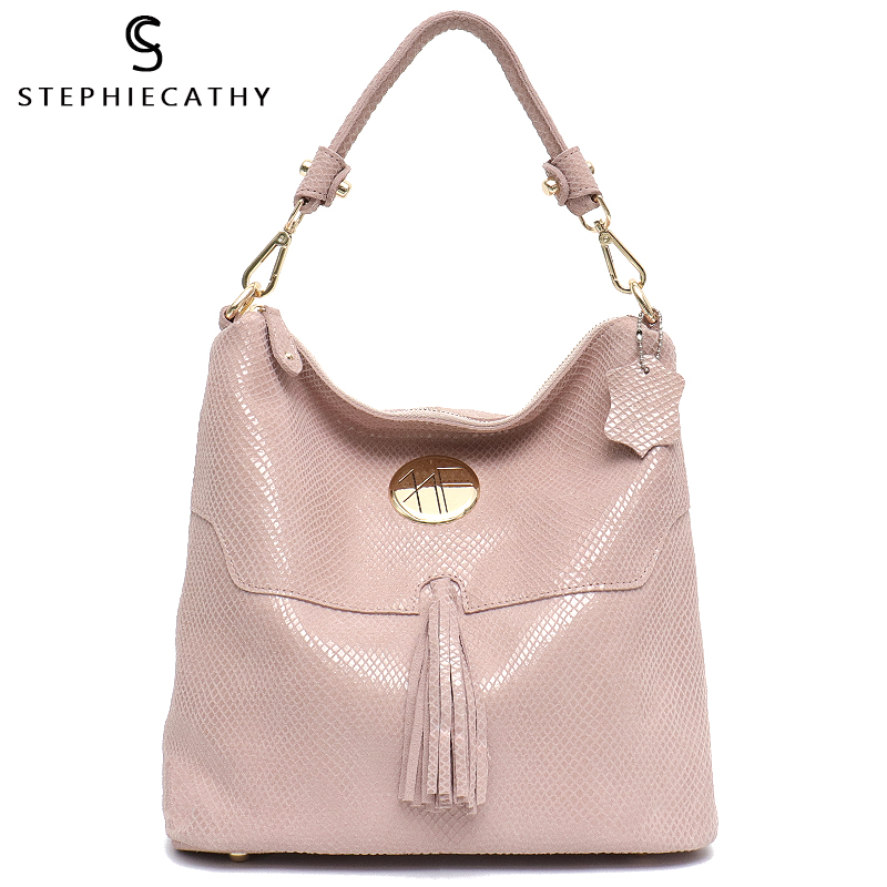 SC Brand Luxury Women Leather Shoulder Bags Female Tassel High Quality Hobo Handbag Large Soft Girls Purse Messenger Bags-in Shoulder Bags from Luggage & Bags    1