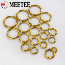 5Pcs Antiquegold Openable O Rings Snap Clasp Keyring Metal Buckles Belt Strap Dog Webbing Chain DIY Sewing Accessories