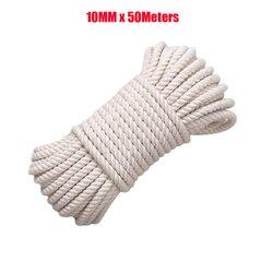 10mm ręcznie robiona lina bawełniana 100% naturalna bawełna lina