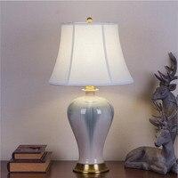 Europe Style Handmade Chinese Ceramic Led E27 Table Lamp For Living Room Wedding Decor Bedroom White