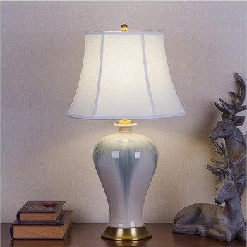 유럽 스타일 수 제 중국 세라믹 led e27 테이블 램프 거실 웨딩 장식 침실 화이트 h 62 cm ac 80-265 v 1624