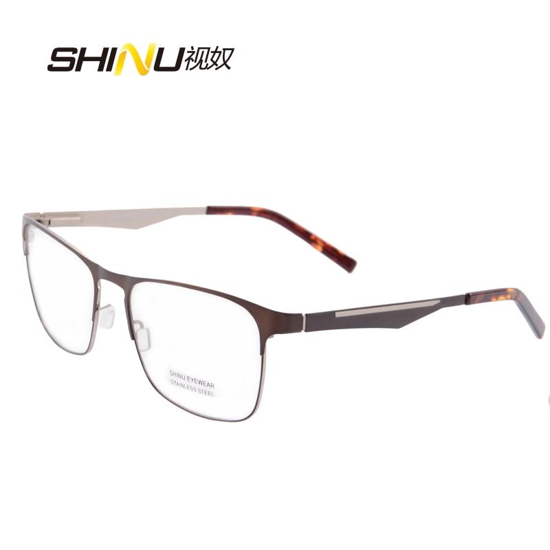 očala moški optična očala okvir prilagodljivo kovinsko steklo iz - Oblačilni dodatki - Fotografija 1