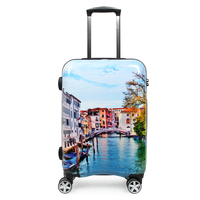 20 Inch Cabin Luggage Hard Shell Suitcases Unisex PC Suitcase On Wheels Waterproof Travel Trolley Fashion Graffiti Design