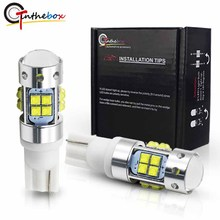Gtinthebox عالية الطاقة T10 LED 912 921 LED لمبة XB D رقائق مصباح تلقائي أضواء السيارات وقوف السيارات احتياطية عكس أبيض أصفر أحمر 12 فولت