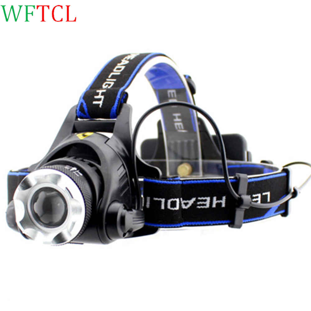 WFTCL LED headlights 10W T6 LED faros Super Bright LED Headlamp fari with Rechargeable Battery lampu scheinwerfer <font><b>best</b></font> headlamp