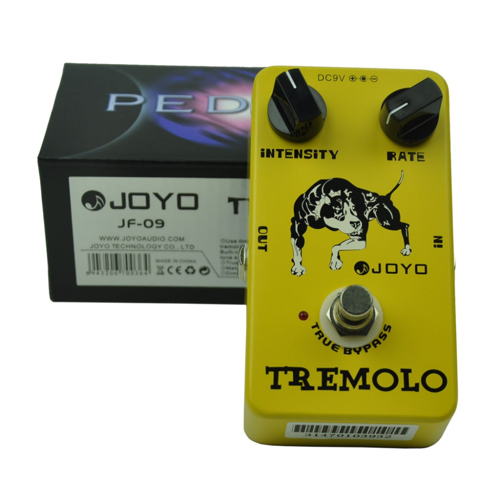 JOYO JF-09 Tremolo Guitar Effect Pedal True Bypass Rate Intensity Knobs mooer ensemble queen bass chorus effect pedal mini guitar effects true bypass with free connector and footswitch topper