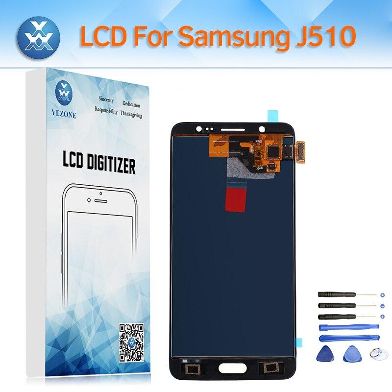 Yezone LCD Pour Samsung Galaxy J5 2016 J510 LCD Écran Tactile Digitizer Assemblée Affichage pour SM-J510FN J510M J510A J510H + outil