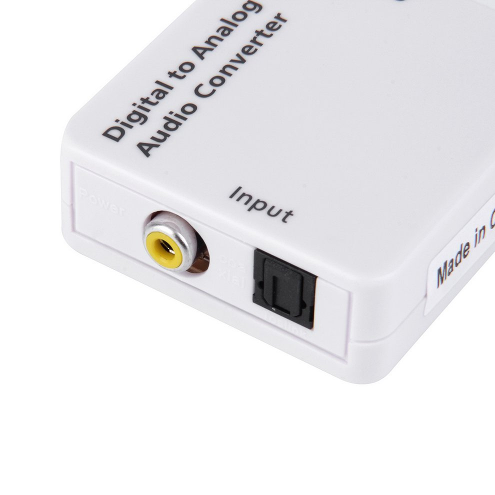 10PCS Converter Compact Digital Optical Toslink Coax to Analog R/L/RCA Audio Signal Converter Adapter with USB Power Cable best price digital optical fiber coax coaxial toslink to signal converter adapter audio transverter rca l r with usb cable