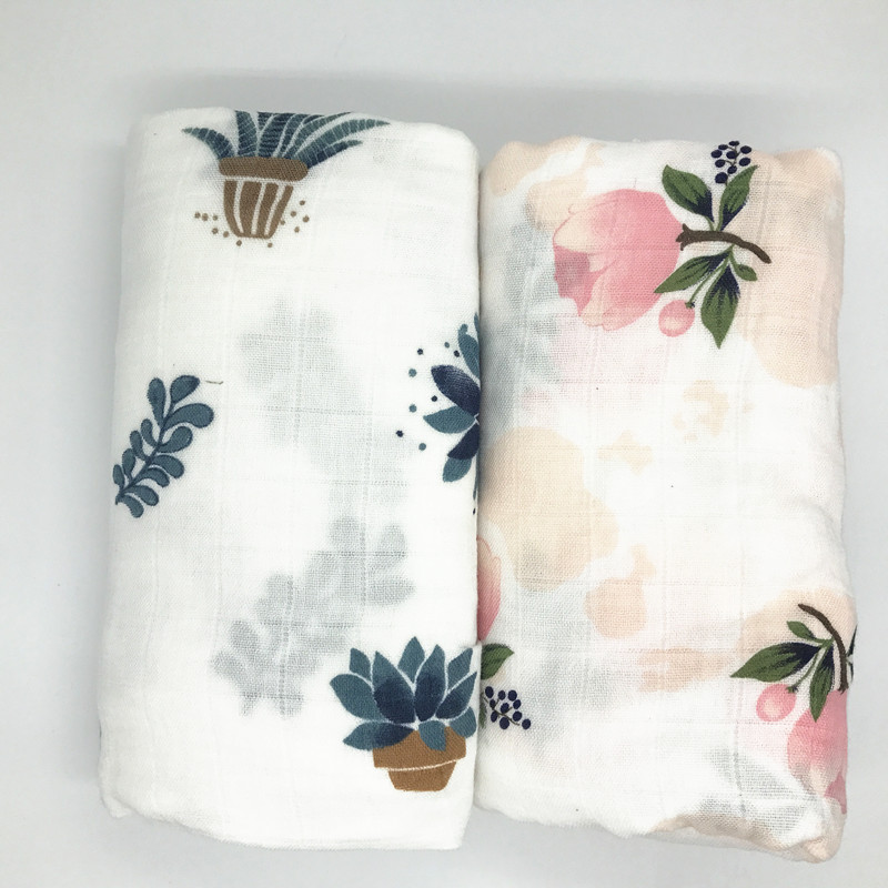 210g 70% bamboo+ 30% cotton baby Swaddle Wraps Cotton Baby muslin Blankets Newborn 100% bamboo muslin quilt