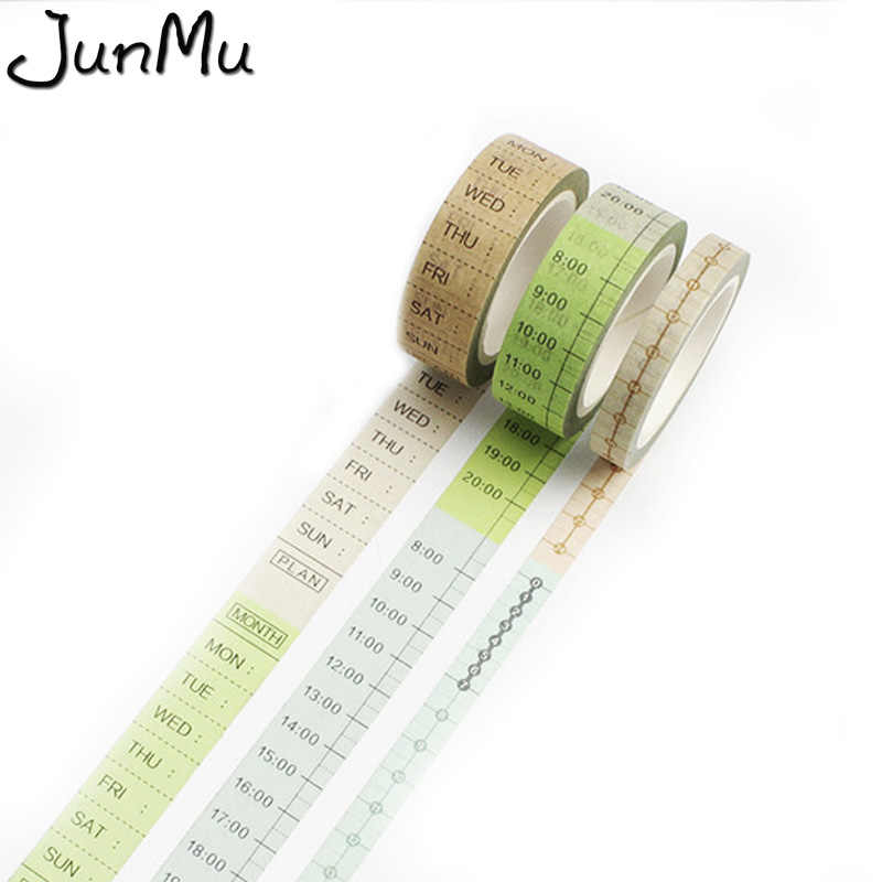 DIY Timeline Weekly Plan Scheduler Washi Tapes Diary Journal Decoration Supplies Home decorations Gift Box 15mm*8m/8mm*8m