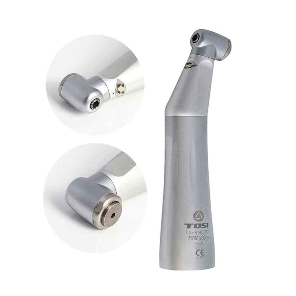 TOSI Dental Low Speed Handpiece Air Turbine LED Contra Angle Handpiece Inner Water Spray TX-414-C(7)