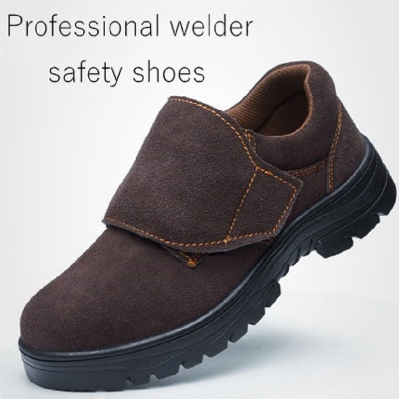 Professional Welder Protective Shoes Cowhide Vamp Steel Toecap Heat Insulation Anti-spurting Piercing Comfortable Safety BootsProfessional Welder Protective Shoes Cowhide Vamp Steel Toecap Heat Insulation Anti-spurting Piercing Comfortable Safety Boots