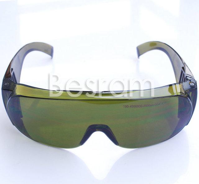 CE Certificado IPL UV IR 200-450nm, 800-2000nm Óculos de Proteção Óculos de Segurança Do Laser OD 4 Beleza Clínica EP-5