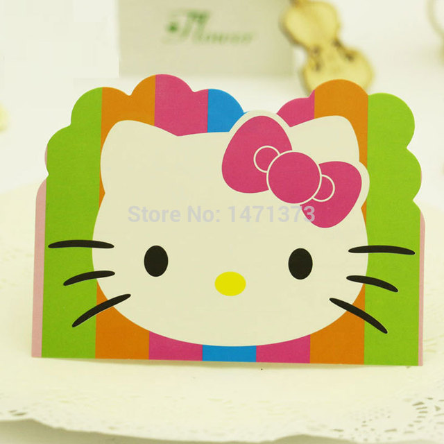 12 Pieces Lot Hello Kitty Party Invitation Cards Kids Birthday Party