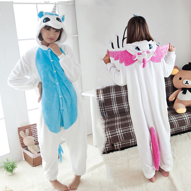 New Arrival Unicorn Pajamas Winter Kawaii Anime Hoodie Pyjamas