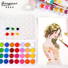 Buy BGLN 12/16/24/28/36Colors Solid Watercolor Painting Set Bright Color Portable Watercolor Pigment Powder Set For Kids Students directly from merchant!