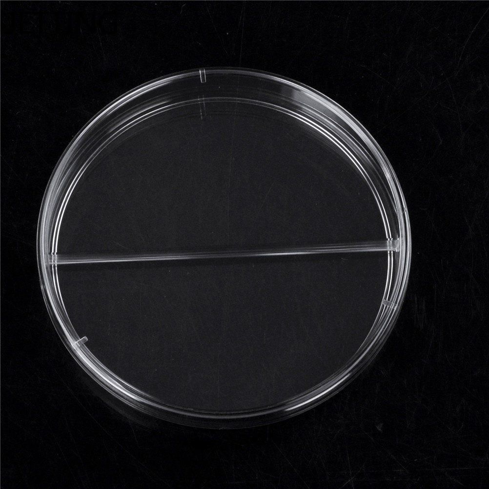 JETTING 10pcs Practical Sterile Petri Dishes with Lids for Lab Plate Bacterial Yeast Chemical Instrument Lab 90mm Disposable