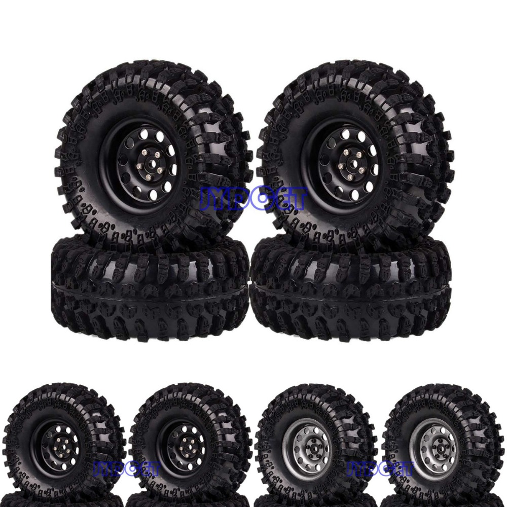 2024-3021 Aluminum 2.2 Beadlock Wheel Rim & Tires 4pcs For RC 1/10 Axial Traxxas HPI2024-3021 Aluminum 2.2 Beadlock Wheel Rim & Tires 4pcs For RC 1/10 Axial Traxxas HPI