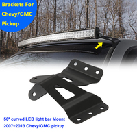 Auxmart Mounting Brackets For Chevrolet Silverado 2007 2014 Tahoe Fit 50 Inch Curved LED Light Bar