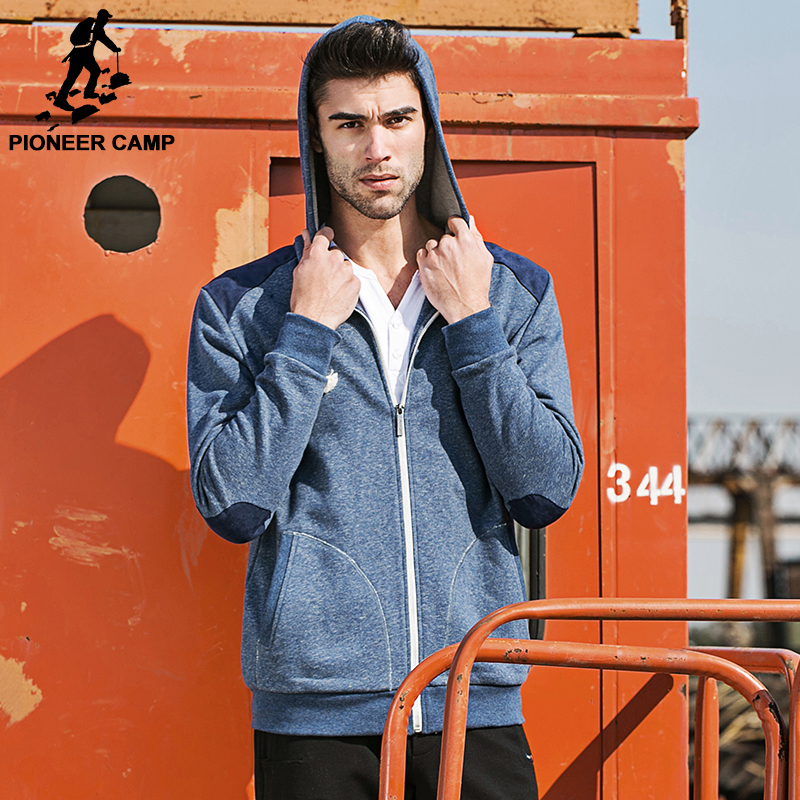 Pioneer Camp 2017 New Fashion Men Hoodies and Sweatshirts brand clothing Top quality casual Male Hooded Sweatshirt 622023