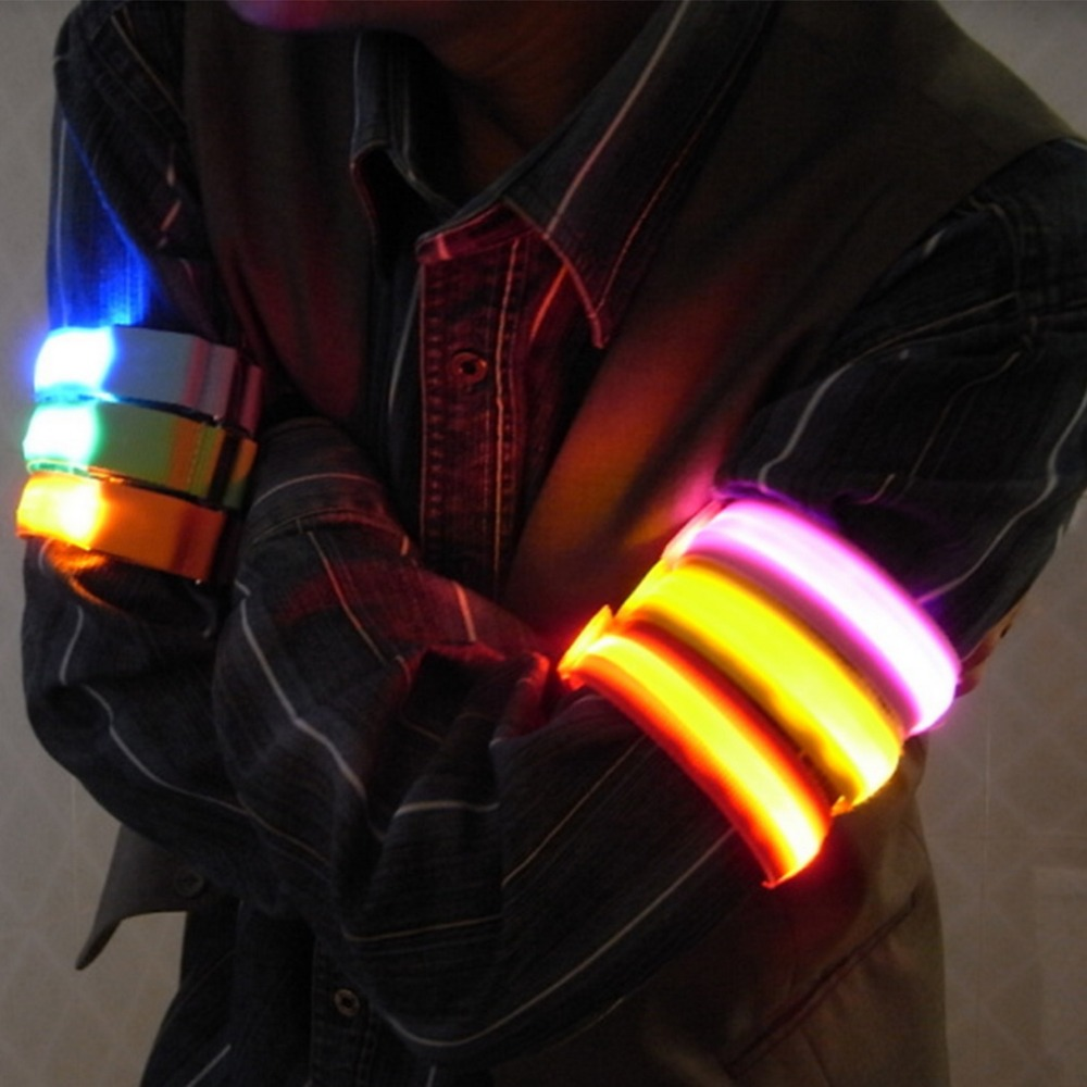 LED Flashing Wrist Band Bracelet Arm Band Belt Safety Bands For   Cycling/Skating/Party/Shooting 7 Colors For Night Running Cycl