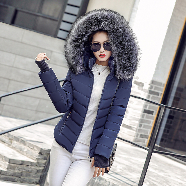 winter jacket women Fashion women 2018 Zippers Cotton-padded Jacket Female Thickening Hair Winter coat Women plus size
