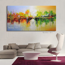 knife oil painting handmade abstract on canvas 100% color art modern artwork for home wall decoration