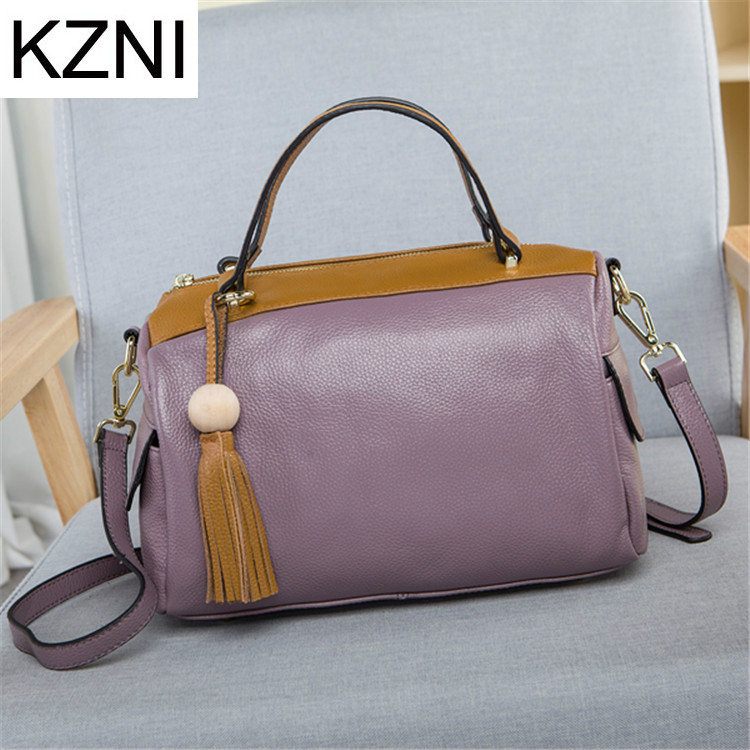 KZNI Genuine Leather Purse Crossbody Shoulder Women Bag Clutch Female Handbags Sac a Main Femme De Marque L030725 kzni tote bag genuine leather bag crossbody bags for women shoulder strap bag sac a main femme de marque luxe cuir 2017 l042003