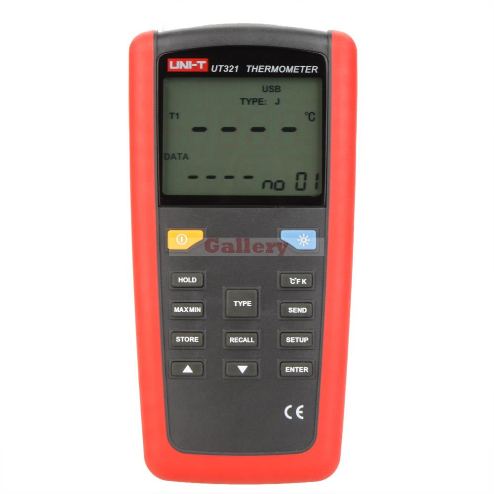 Uni T Ut321 Digital Thermometer K J E Type Temperature Tester Sensor W Lcd Backlighgt & Usb Interface Digital Thermometer Car  цены