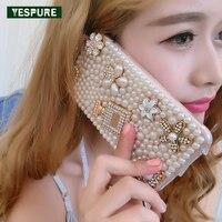 YESPURE Vrouwen Luxe Telefoon covers voor Iphone 7 Parel Fancy telefoon Gevallen Meisjes 3D Parfum Case Mobiele Telefoon Fundas Fille Celular