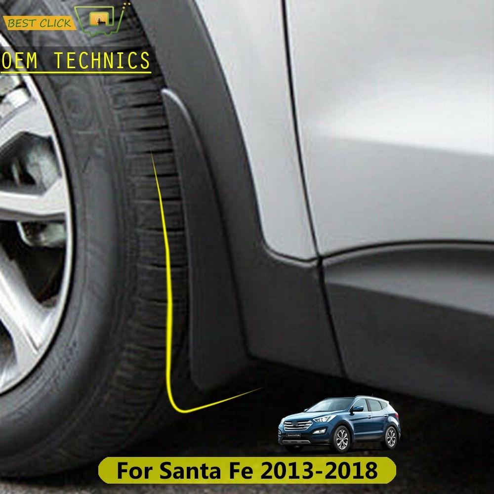 Автомобильные Брызговики для Hyundai Santa Fe DM XL 2013   2018 Maxcruz Брызговики передние и задние 2014 2015 2016 2017|Грязезащита|   | АлиЭкспресс