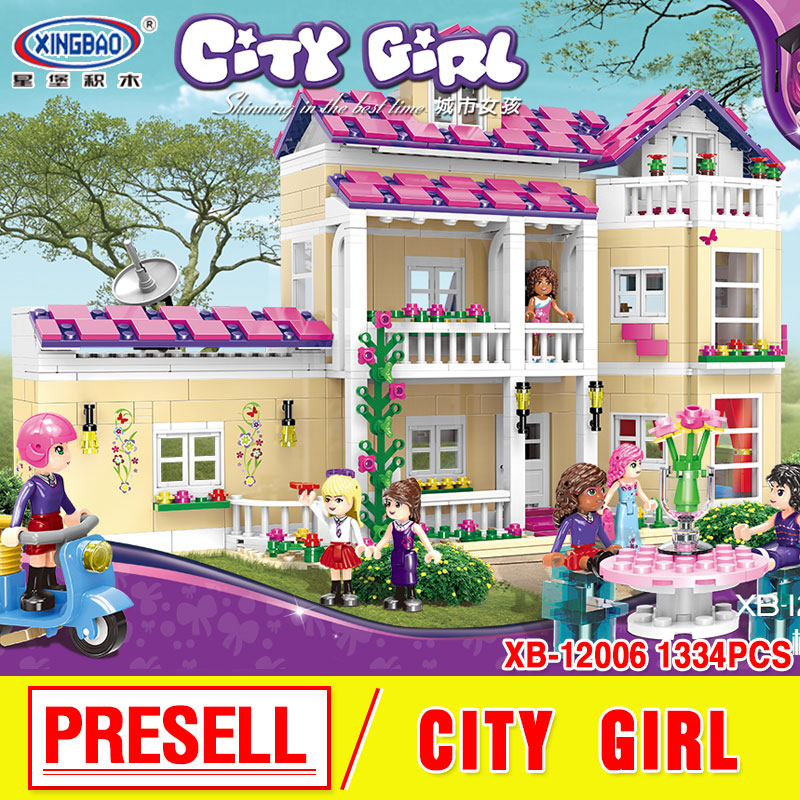 XINGBAO 12006 Kid Toys 1334Pcs Girl Series The Happy Dormitory Set Building Blocks Bricks Educational birthday gifts the girl with all the gifts