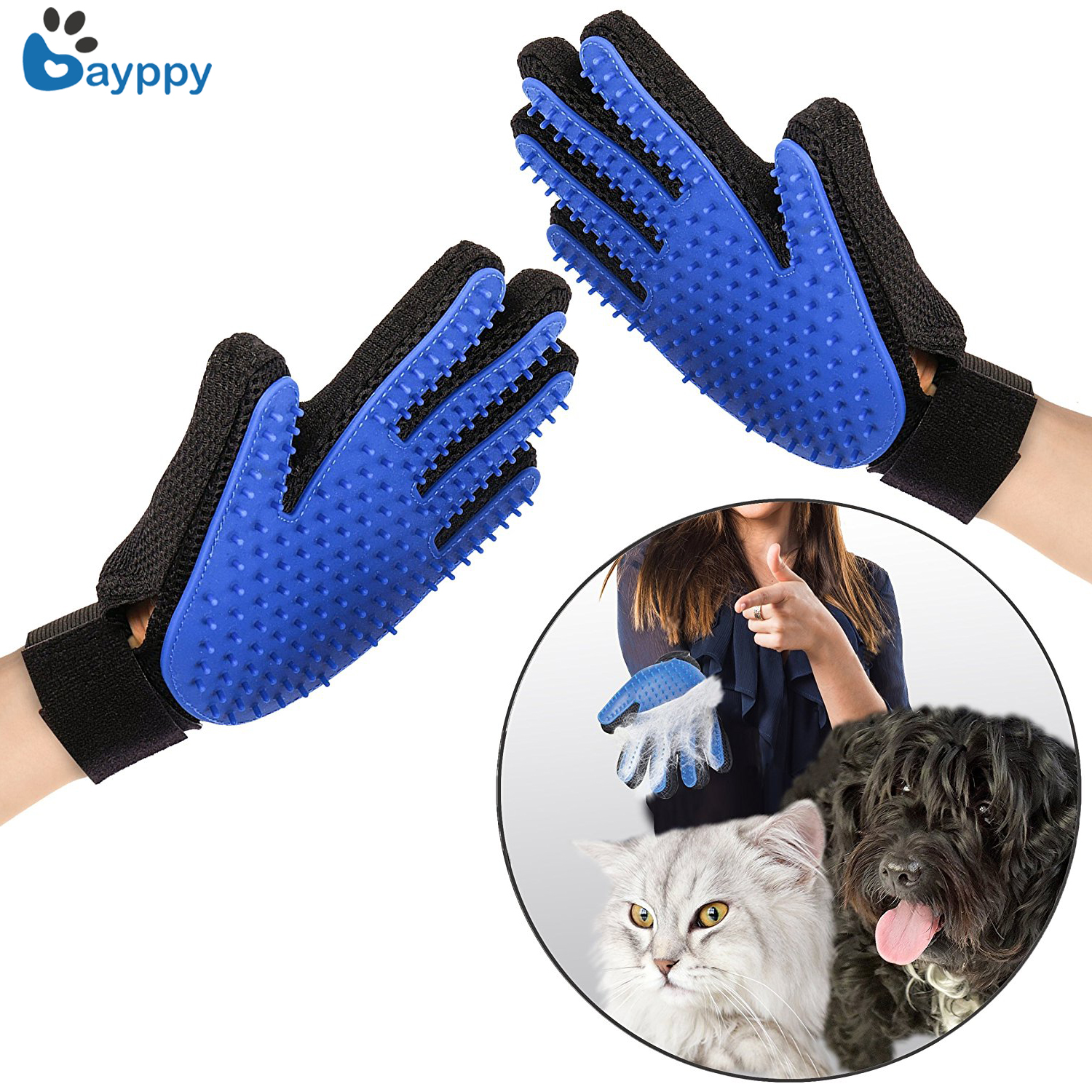 Pet Cat Grooming Glove For Cats Pet Dog Hair Deshedding Brush Comb Glove For Pet Dog Finger Cleaning Massage Glove For Animal
