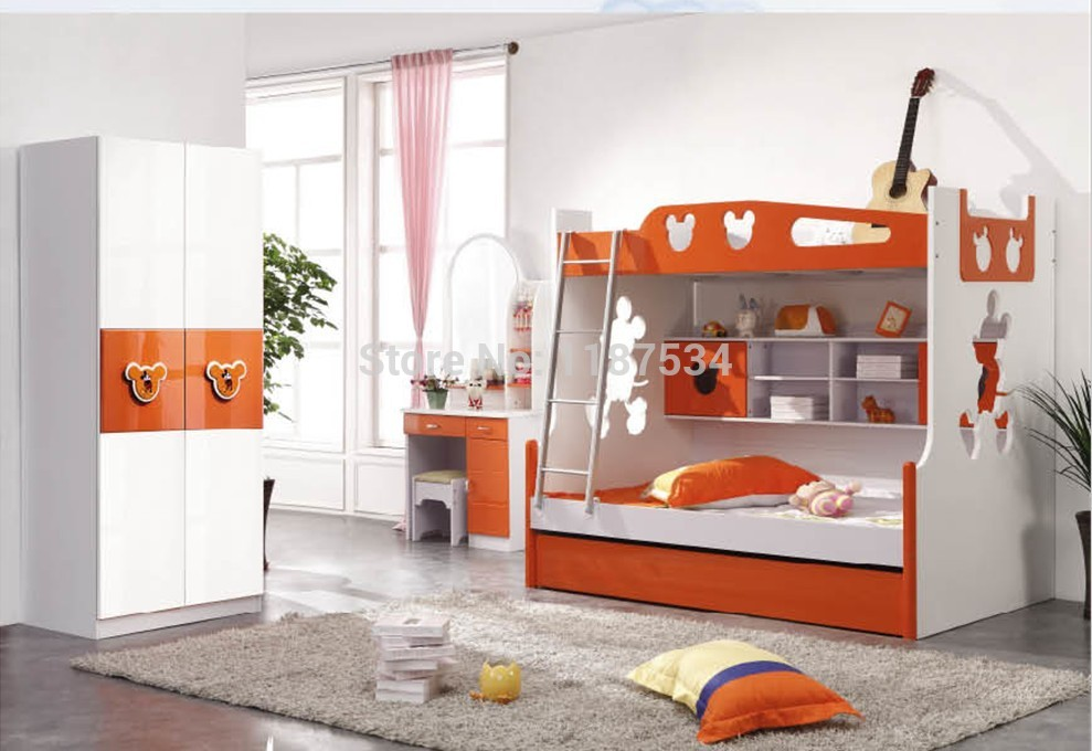 9618b modern children home bedroom furniture children bed for Modern kids bunk beds