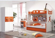 9618B Modern children home bedroom furniture children bed children bunk bed wooden children double-decker bed(China)