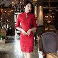 Sexy Tassels Cheongsam Dress Women Deerskin Cashmere Bodycon Dresses Plus Size 3XL Chinese Dress Qipao Vintage Cheongsams