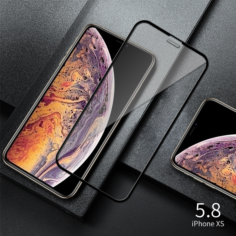 Full Cover Tempered Glass For iPhone XS Max XR X Explosion-Proof Screen Protector Film For iPhone 6 6s 7 8 Plus 5 5S 5C SE Glass 2