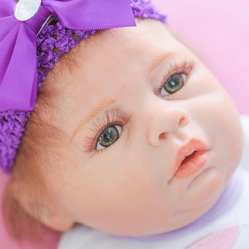 """20 """"npk 사랑스러운 아기 reborn 소녀 인형 50 cm 살아있는 전체 실리콘 신생아 bebe 소녀 귀여운 의류 키즈 놀이 집 장난감 boneca-에서인형부터 완구 & 취미 의  그룹 3"""