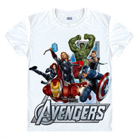 Avengers T Shirt Ironman Captain America Iron Men Hawkeye Black Widow Marvel T Shirt Super Hero