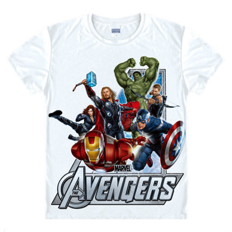 Avengers T Shirt Ironman Captain America Jern mænd Hawkeye Black Widow Marvel T-shirt Super Hero Custom Made 3D Print Gave Tee