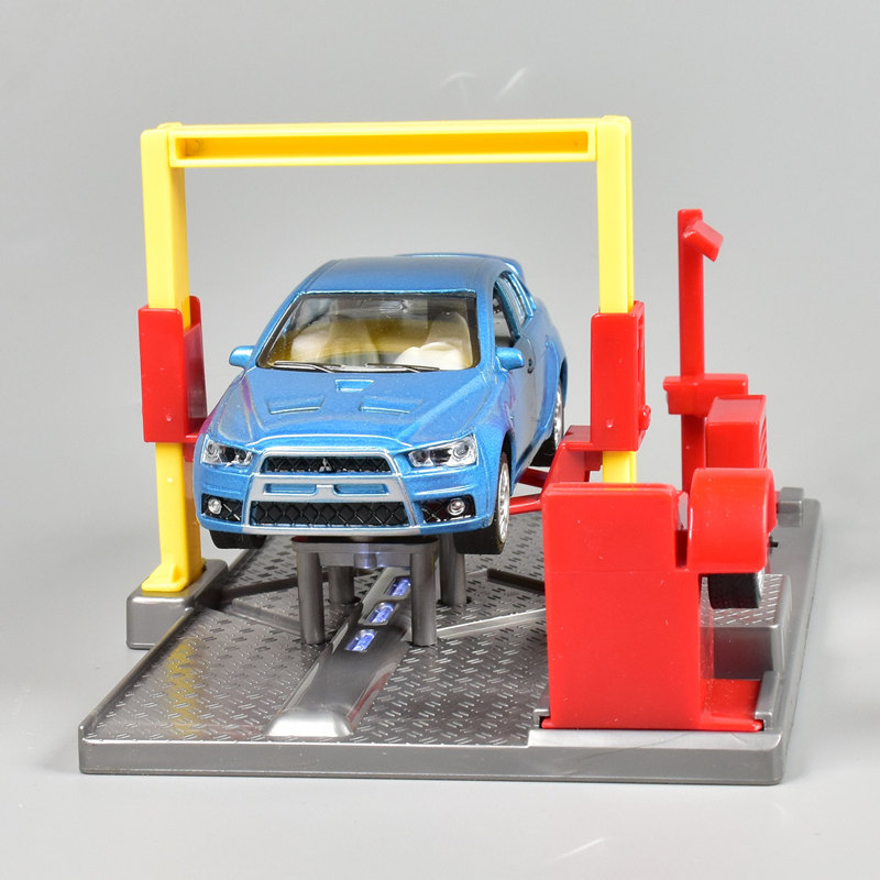 1::32 Kid's Car Repair Parking Kits Toy Educational Toys For Children Car Tracks Maintenance Model For Boys DIY Car Scene Block