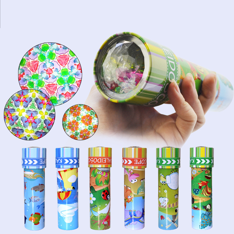 Imaginative Cartoon Animals 3D Kaleidoscope iron sheet Kaleidoscope Colorful World Toys Interactive Toy for Chirstmas Gifts 1PCS ...