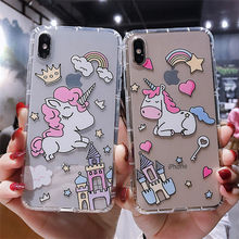 Unicorn Case For Huawei P30 Pro Cases For Huawei P20 Lite Coque on P20 Nova 3e 4 mate 20 pro Cover Bling Dynamic Silicone Capa(China)