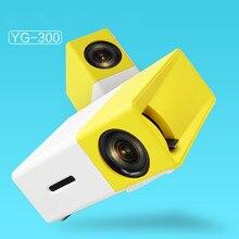 YG300 1080 P LED Портативный проектор 400-600LM 3.5 мм аудио 320×240 Пиксели YG-300 HDMI USB Мини проектор Главная медиаплеер