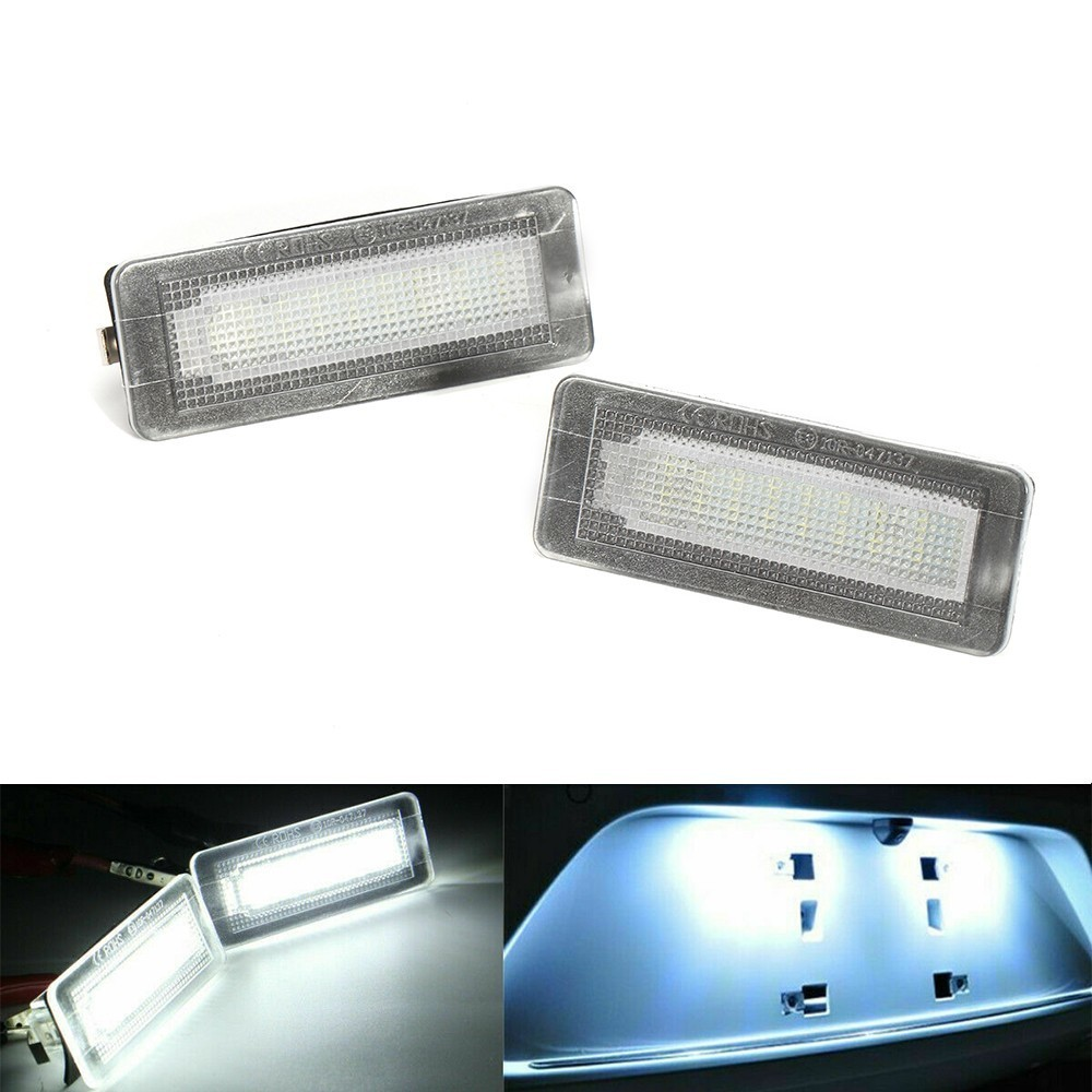 2Pcs 18SMD LED License Plate Number Light Lamp Error Free For Benz Smart Fortwo Coupe Convertible 450 451 W450 W453 2014-2018