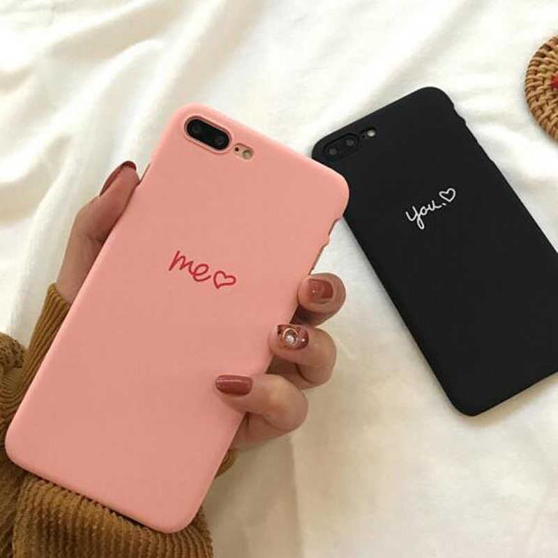 8d88776804 Cute Love Heart Couple Lovers Phone Case For iphone XS MAX Case For iphone  XR X
